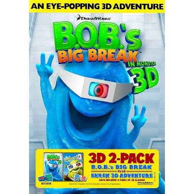 B.O.B's Big Break / Shrek 3D (DVD)(2010)