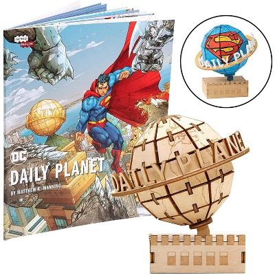 Incredibuilds DC Comics Superman Daily Planet Book & Wood Model Figure Kit