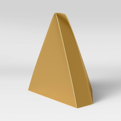 "6.2"" x 5.5"" Metal Bookend Pyramid Gold - Threshold™"