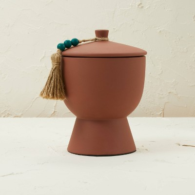 17oz Lidded Terracotta Jar 3-Wick Teal Tropic Oasis Candle - Opalhouse™ designed with Jungalow™