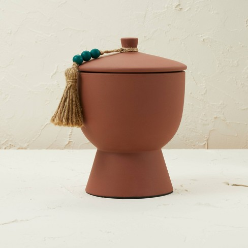 17oz Lidded Terracotta Jar 3-Wick Teal Tropic Oasis Candle - Opalhouse™ designed with Jungalow™ - image 1 of 4