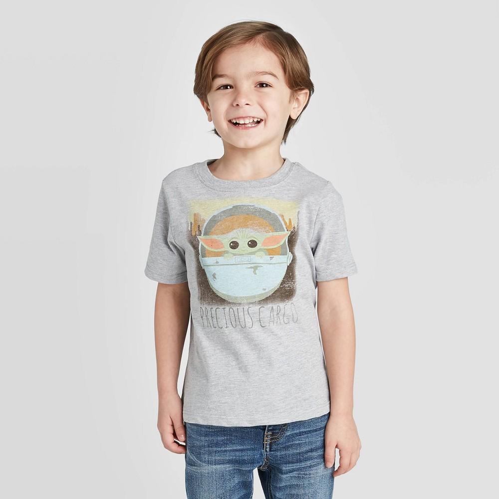 Toddler Boys 39 Baby Yoda Short Sleeve T Shirt Gray 2t