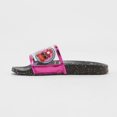 258b32c209bb2 Girls' L.O.L Surprise! Slide Sandals - Black
