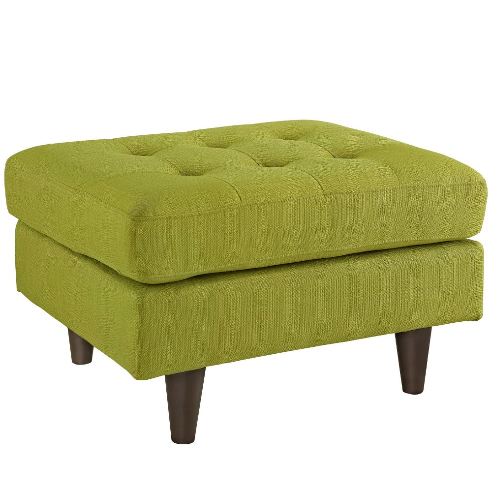 Empress Upholstered Ottoman Wheatgrass (Green) - Modway
