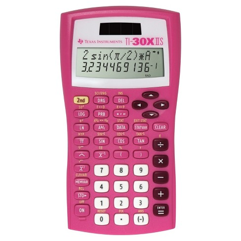 Texas Instruments 30XIIS student scientific calculator - Pink   30XIIS/TBL - image 1 of 1