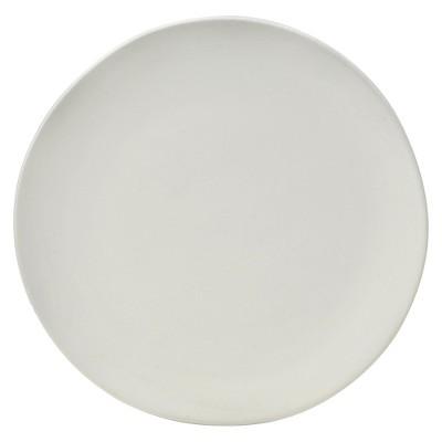 10 Strawberry Street Matte Wave Stoneware Salad Plates 8  White - Set of 6