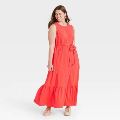 Women's Sleeveless Ruffle Hem Dress - A New Day™