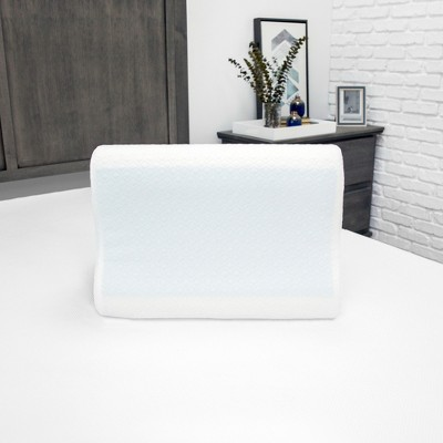 SensorPEDIC Essential Collection Gel-Overlay Memory Foam Contour Bed Pillow