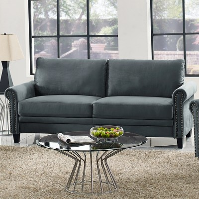 Superb Averton Microfiber Upholstery Sofa With Nailhead Trimming In Uwap Interior Chair Design Uwaporg