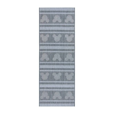 Mickey Mouse Stripes Outdoor Rug
