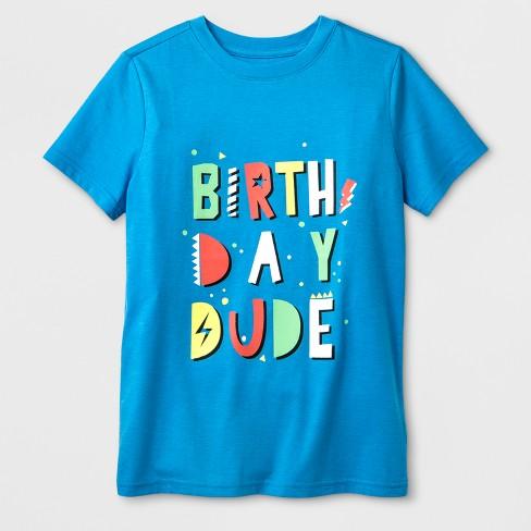 Boys' Short Sleeve Graphic T-Shirt - Cat & Jack™ Blue - image 1 of 1