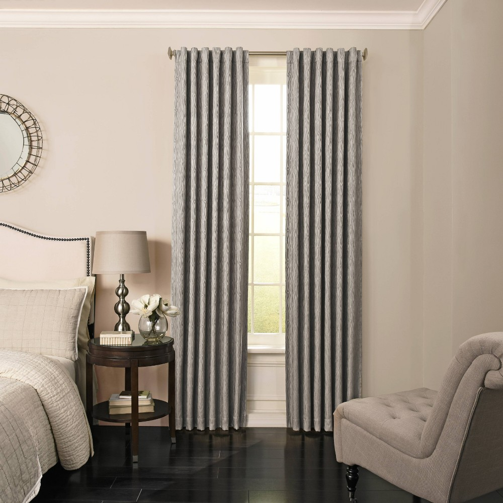 "Image of ""108""""x52"""" Barrou Blackout Curtain Gray - Beautyrest"""