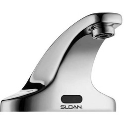 Sloan SF-2350 Sensor Activated Electronic Centerset Hand Washing Faucet for Hot/Cold Water Operation