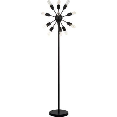 "67.5"" Urban 12 Light Retro Floor Lamp (Includes Light Bulb) Black - Safavieh"