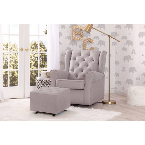 Delta Children Emma Nursery Glider Swivel Rocker Chair - French Gray ... ef47658f6