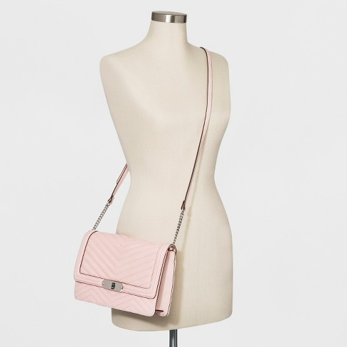 a04324e7b9b Quilted Flap Lock Crossbody Bag - A New Day™ Nouveau Pink