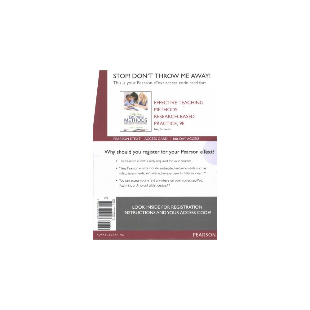 Effective Teaching Methods 9 Ed. + Video Analysis Tool in MediaShare K-12 General Methods :