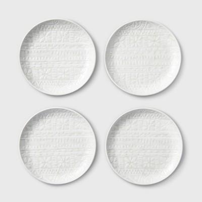 6.5  4pk Melamine Appetizer Plates White - Threshold™