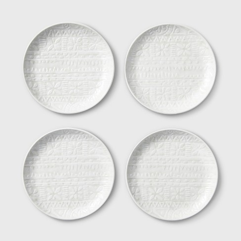 "6.5"" 4pk Melamine Appetizer Plates White - Threshold™ - image 1 of 1"
