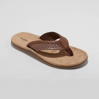 Men's Benjamin Flip Flop Sandals - Goodfellow & Co™ Brown