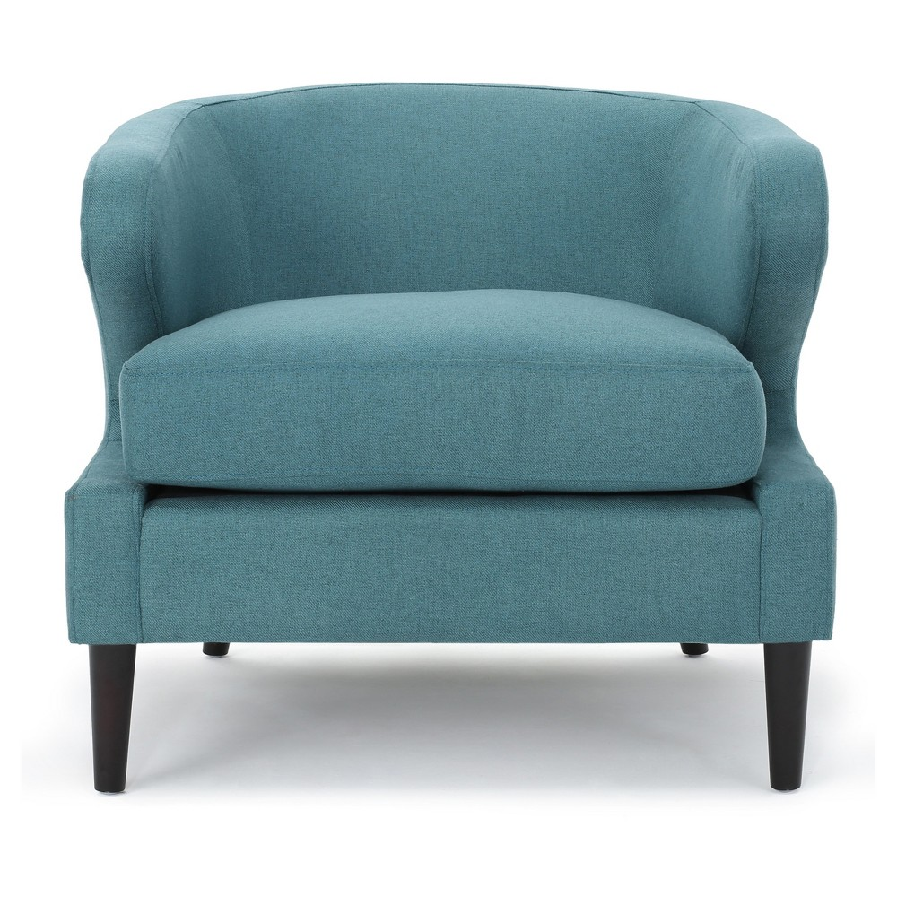 Delgado Upholstered Accent Chair - Dark Teal - Christopher Knight Home
