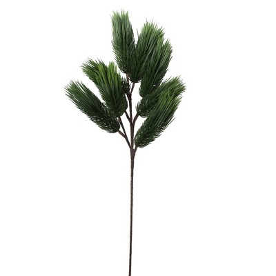 """Allstate Floral 32"""" Brown and Green Pine Artificial Christmas Spray with Long Stem"""