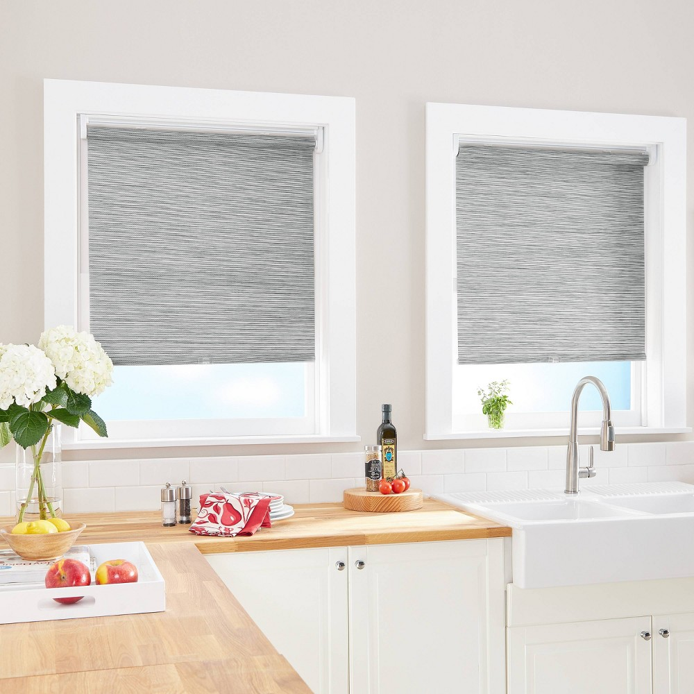 "Image of ""31""""x64"""" Light Filtering Window Shade Panel Gray - CHF Industries"""