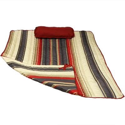 Polyester Quilted Hammock Pad and Pillow - Modern Lines - Sunnydaze Decor