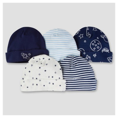 Baby Boys' 5pk Cap Set - Space 0-6M - Gerber®