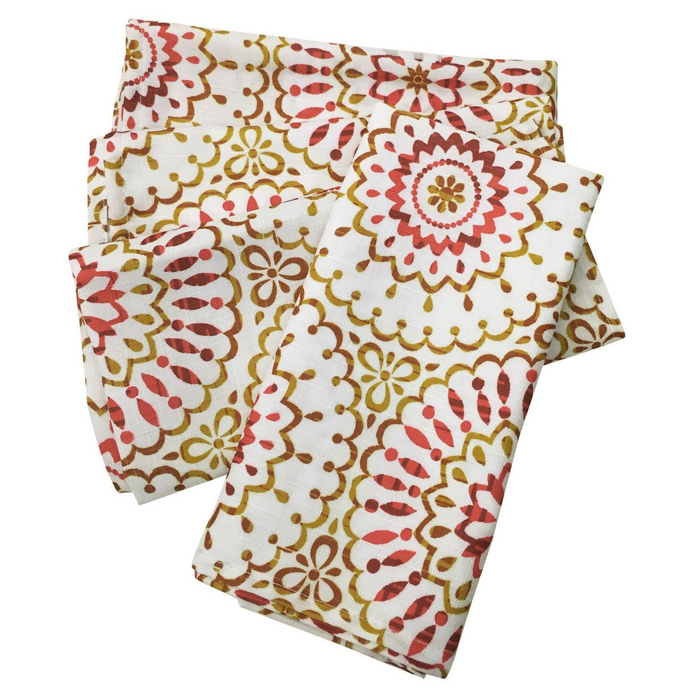Image of Multi-Colored Siesta Medallion Napkins ( Set Of 4)