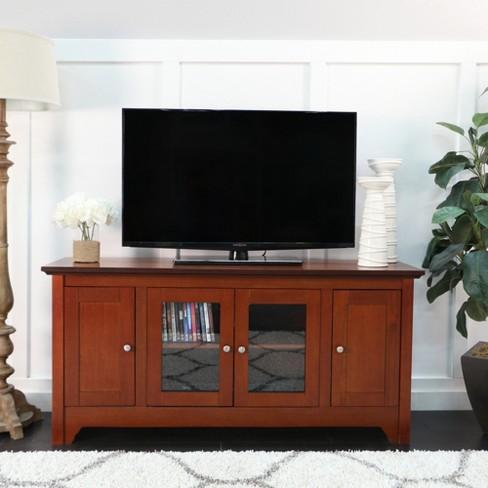Solid Wood Tv Stand With Doors 52 Saracina Home Target