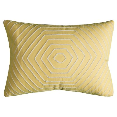 Yellow Hexigons Throw Pillow - (13x18)- Rizzy Home