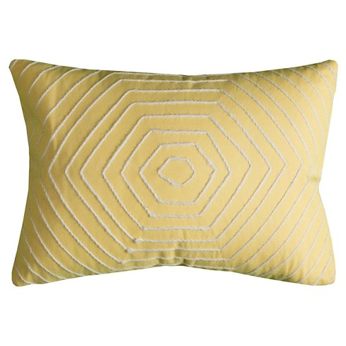 Yellow Hexigons Throw Pillow - (13x18) - Rizzy Home - image 1 of 1