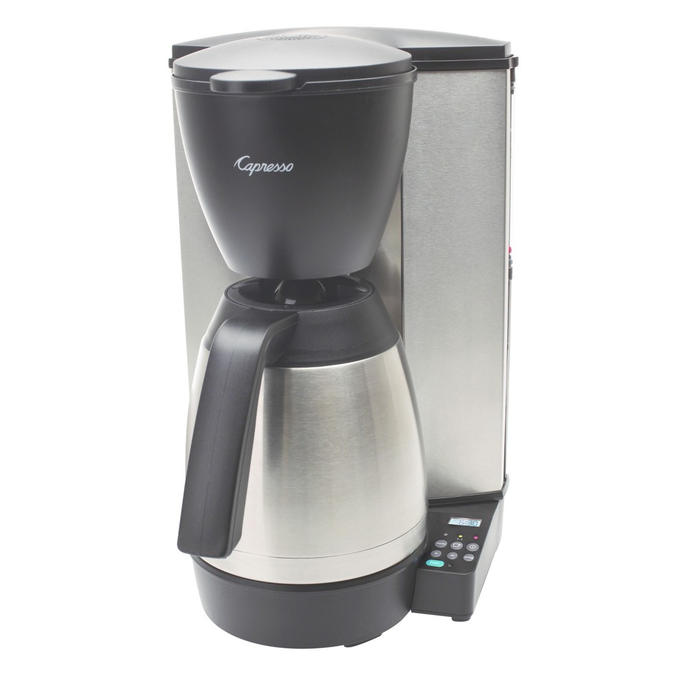 Capresso MT600 Plus 10-Cup Programmable Coffee Maker Stainless Steel with Thermal Carafe – 485.05, Silver 52087157