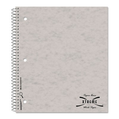 National Subject Wirebound Notebook College/Margin Rule 11 x 8 7/8 White 80 Sheets 31987