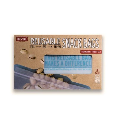 Russbe Reusable Snack Bags - 8ct
