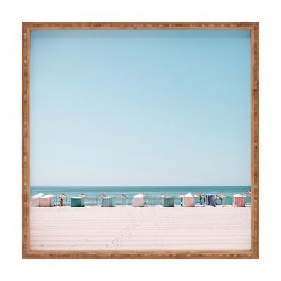 Hello Twiggs Beach Huts Square Bamboo Tray - Deny Designs