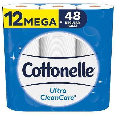 Cottonelle Ultra CleanCare Toilet Paper - 12 Mega Rolls