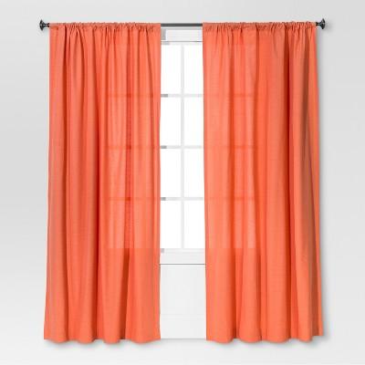 Farrah Curtain Panel Coral (54 x84 )- Threshold™