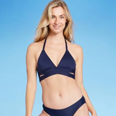Women's Faux Wrap Halter Bikini Top - Kona Sol™