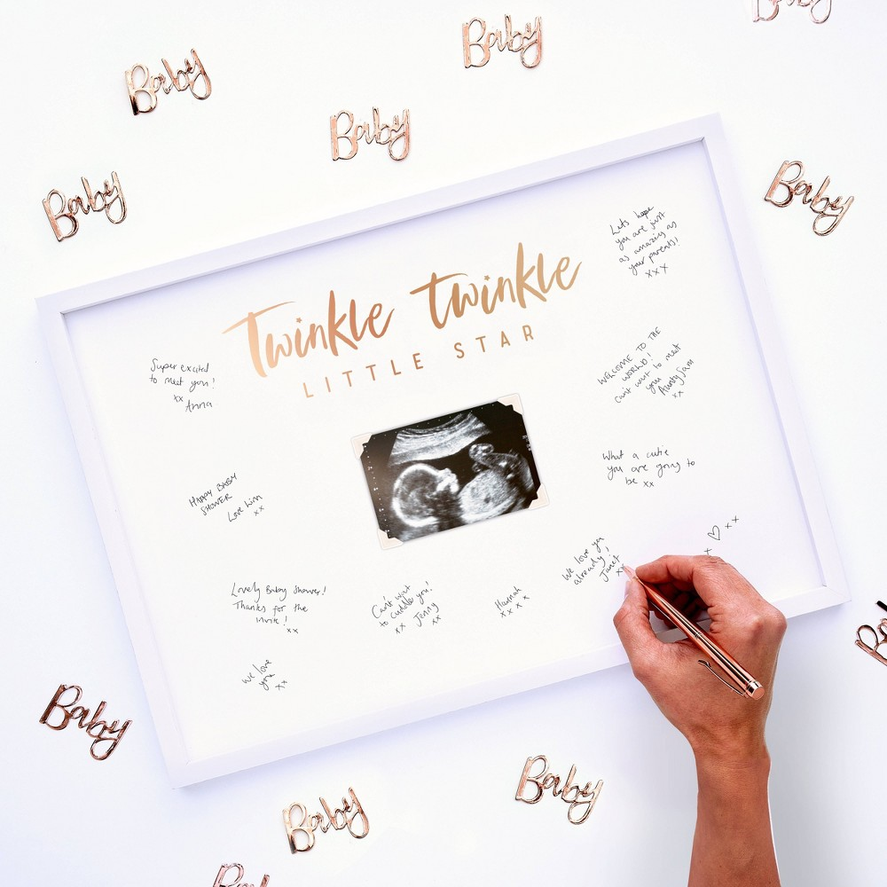 """Image of """"""""""""Twinkle Twinkle"""""""" Frame Guest Book"""""""