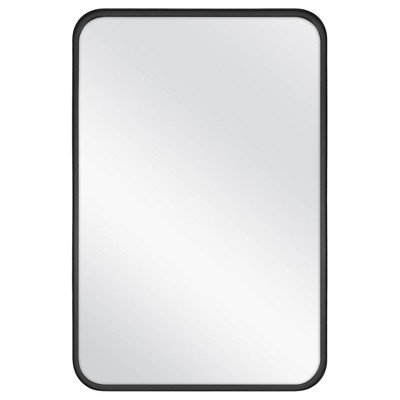 "24"" x 36"" Rectangular Decorative Mirror with Rounded Corners Black - Threshold™ designed with Studio McGee"
