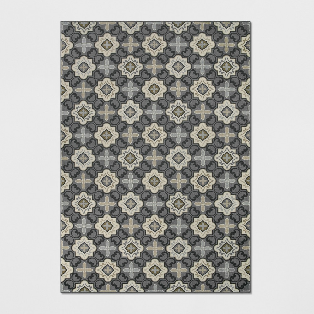 7'X10' Diamond Tufted Area Rugs Gray - Threshold