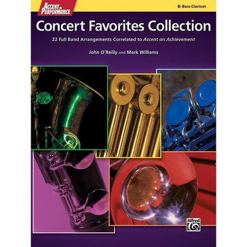 Alfred Accent on Performance Concert Favorites Collection Bass Clarinet Book - image 1 of 1
