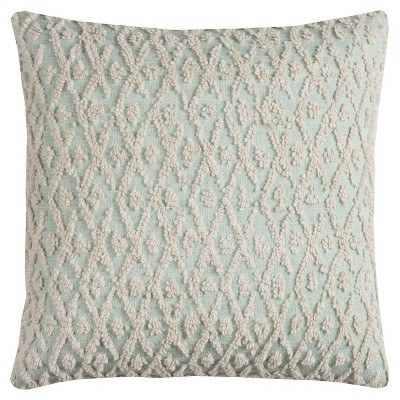 """20""""x20"""" Oversize Geometric Square Throw Pillow Cover Mint Green - Rizzy Home"""
