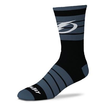 NHL Tampa Bay Lightning Black Crew Socks - L