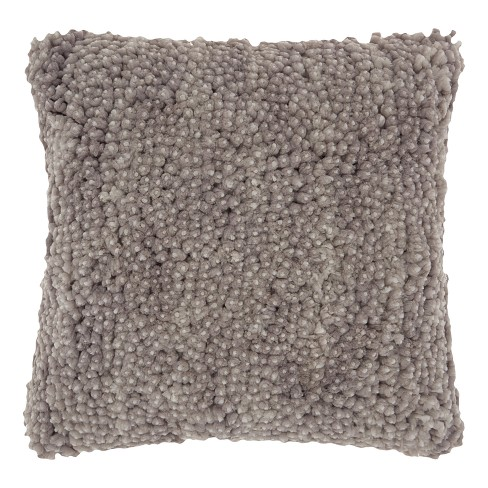 Gray Solid Throw Pillow - Mina Victory - image 1 of 3