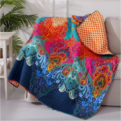 Mackenzie Bohemian Quilted Throw - Levtex Home