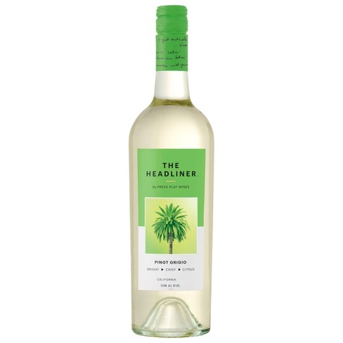 Pinot Grigio White Wine – 750ml Bottle – The Headliner by Press Play Wines - image 1 of 2