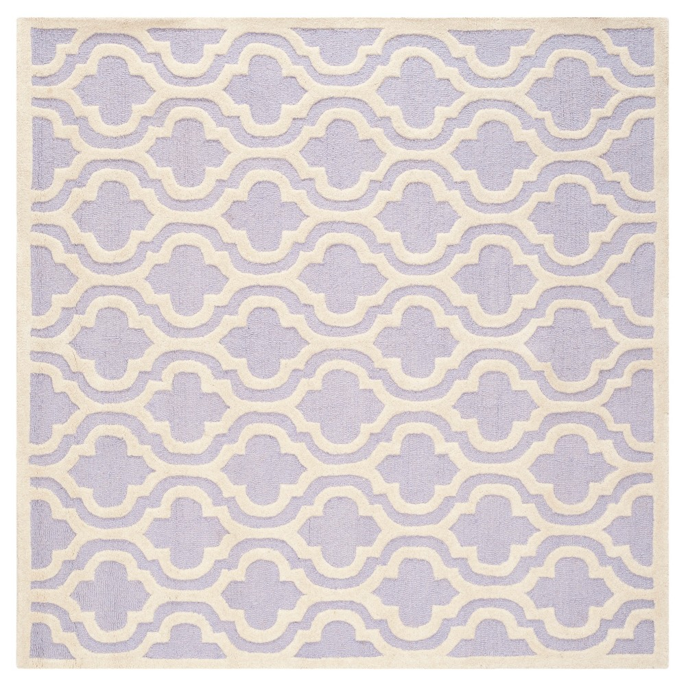 6'X6' Geometric Area Rug Lavender/Ivory (Purple/Ivory) - Safavieh